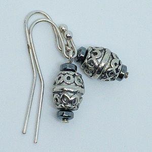 Sterling Silver Bali Dangle Earrings